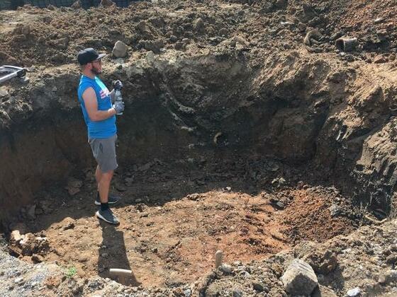 2 Herbst 2018 - Die Grube ist im groben erstellt.