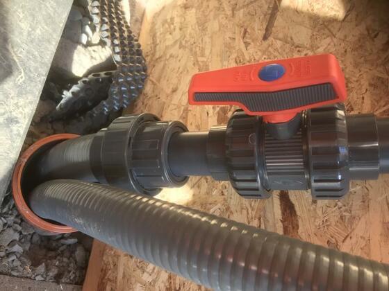 Zulauf Skimmer- Übergang 63mm Flex auf 50mm Rohr