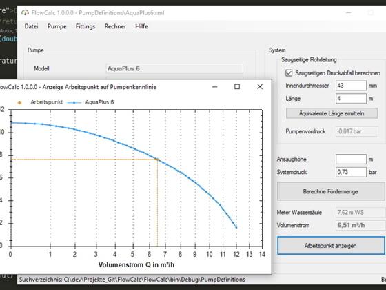Berechnung Volumenstrom mit Astral Multiflow ELD auf 20 mm erweitert