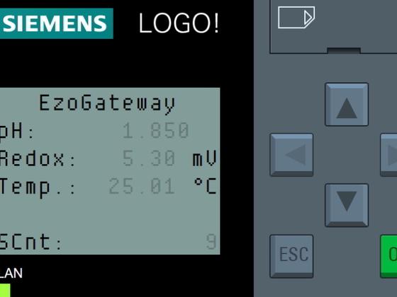 Übertragung der Messwerte an eine Simens LOGO! Kleinsteuerung