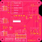 PCB Entwurf in der Version 1.1 (Bestückseite)