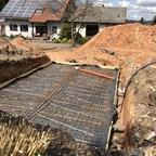 Bodenplatte Vorbereitungen