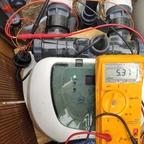 Stromaufnahme einer neuen Intex 12g/h Titanzelle