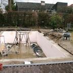 Der Beton ist trocken ... jetzt wird sauber gemacht!