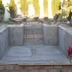 Pool mit Beton verstärkt
