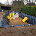 Baugrube fertig ausgehoben